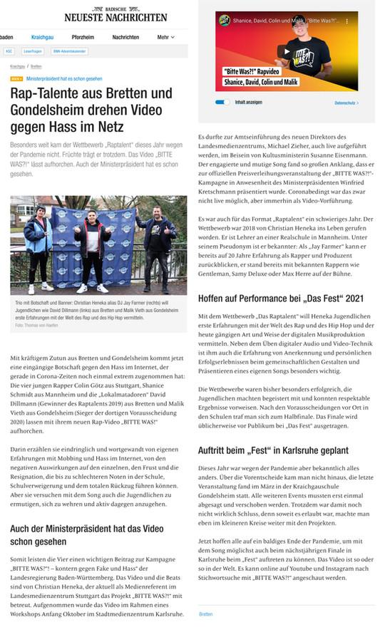 Rap-Talente aus Bretten und Gondelsheim