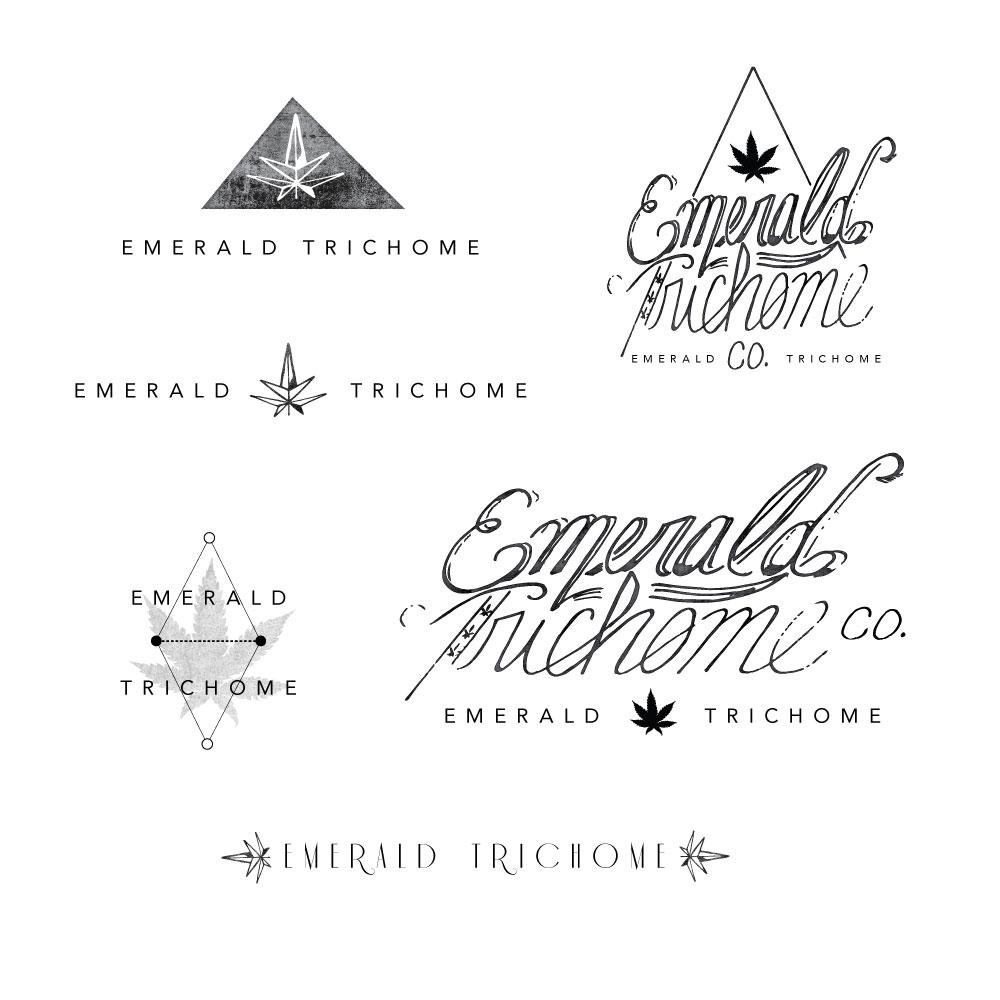 Emerald Trichrome Logo Examples