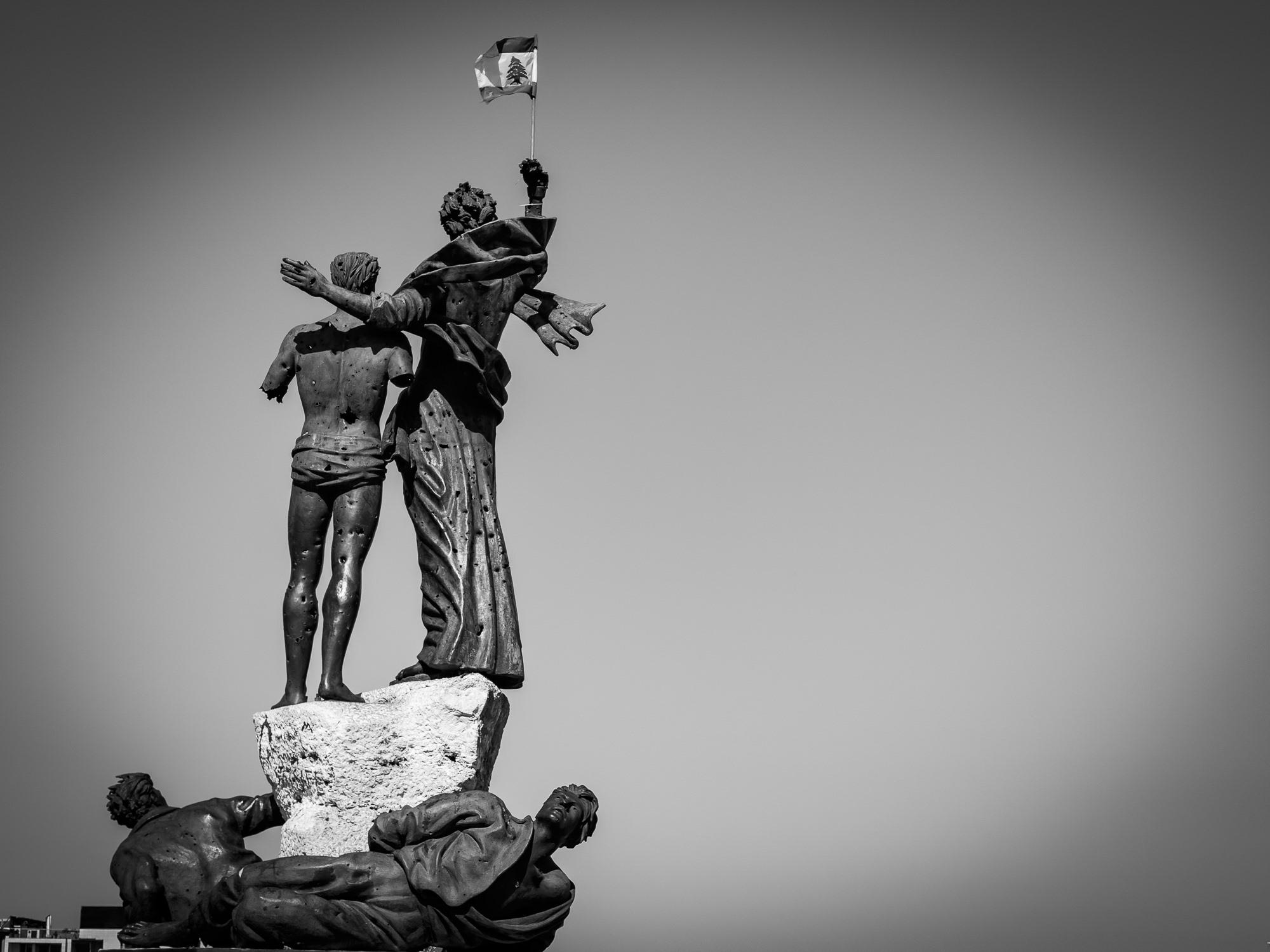 Beirut Square Statue 2020