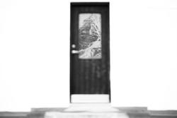 door to mountain
