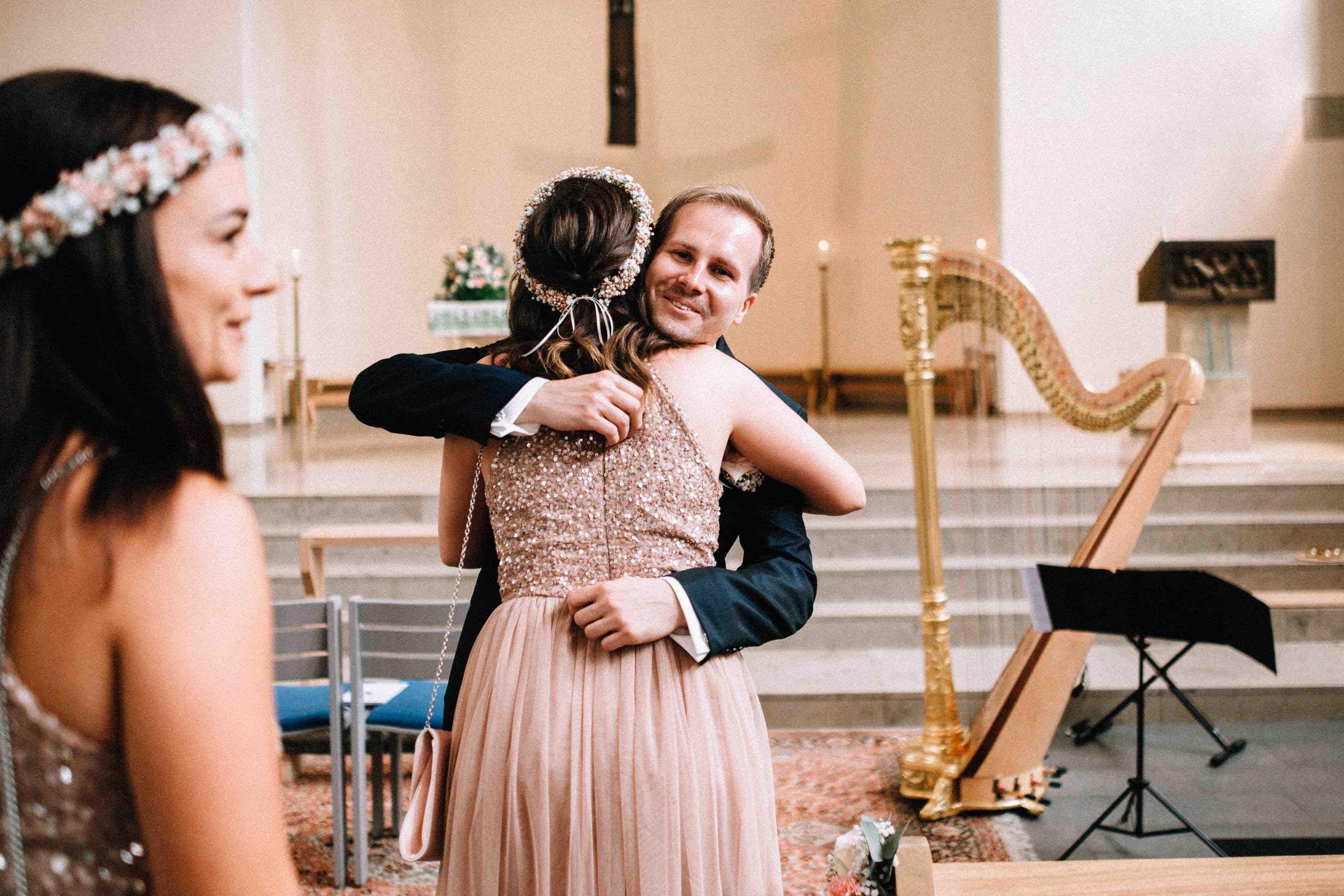 Hochzeit Harfe Brautjungfer
