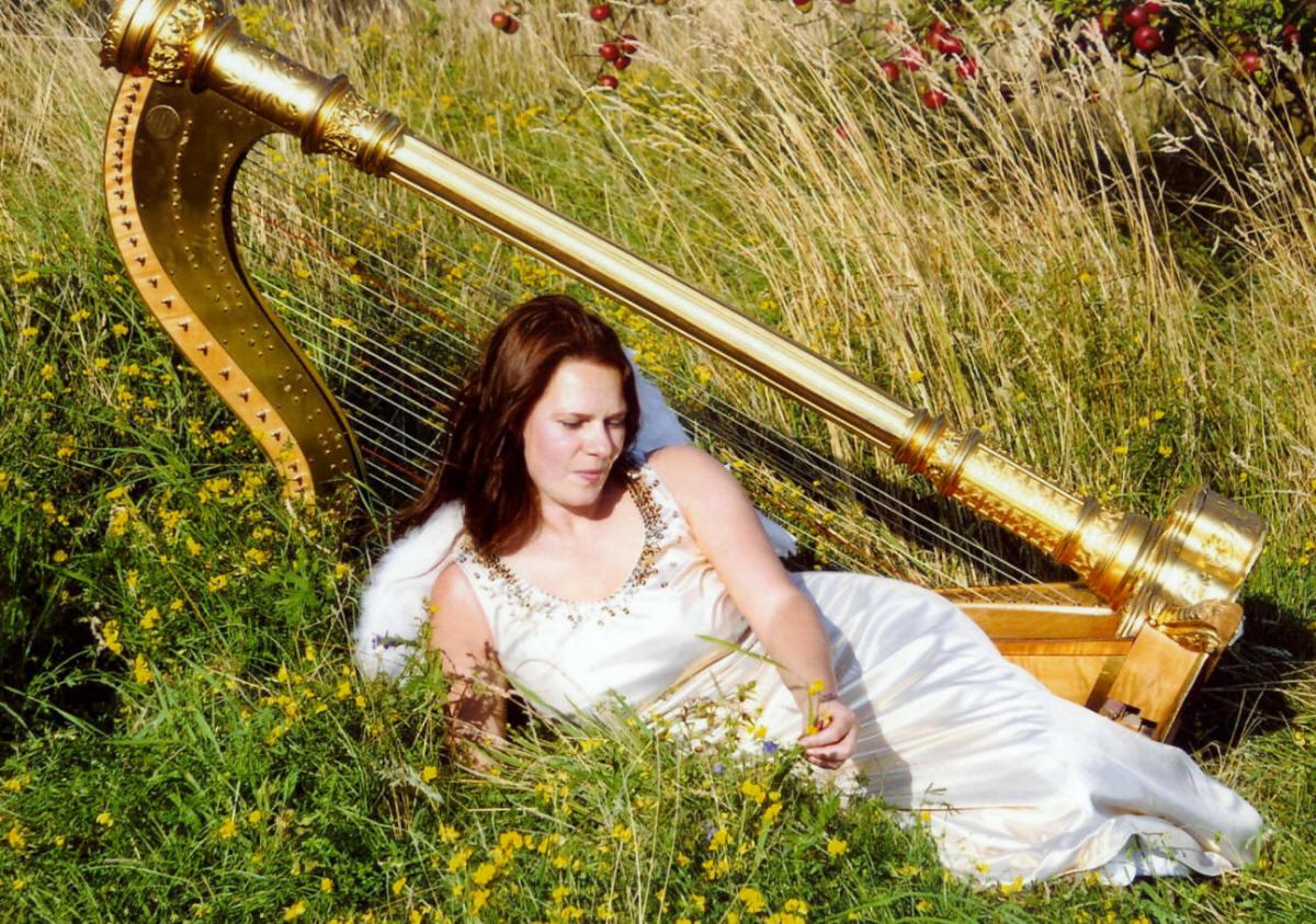Engel Harfe Harfe Engelsflügel