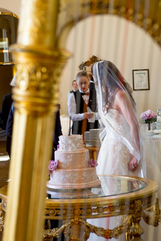 Hochzeitsharfe beim Sektempfang