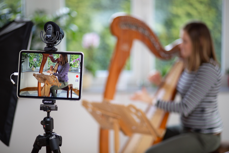 Online Harfenschule