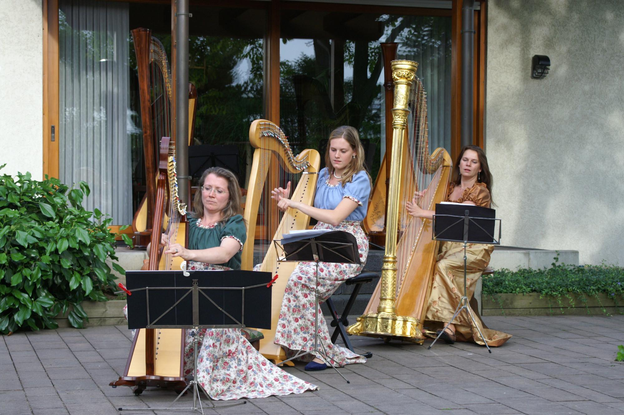 irische Musik- keltisches Harfentrio
