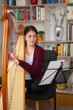Harfe üben bequem zuhause