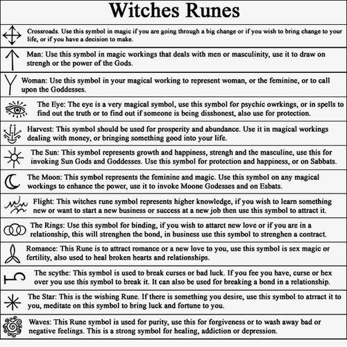 Rune della strega significato