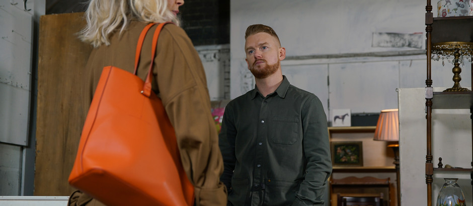Gary scares Claire away in Corrie after she pays him a visit