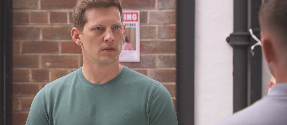 James urges John Paul to seek professional help in Hollyoaks after he punches Ste