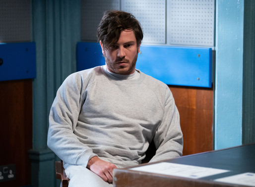 Gray is questioned by police as the investigation into Chantelle's death begins in EastEnders