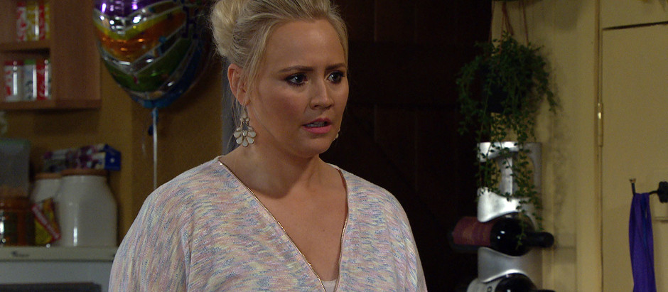 Tracy struggles to cope in Emmerdale following Nate's shock proposal