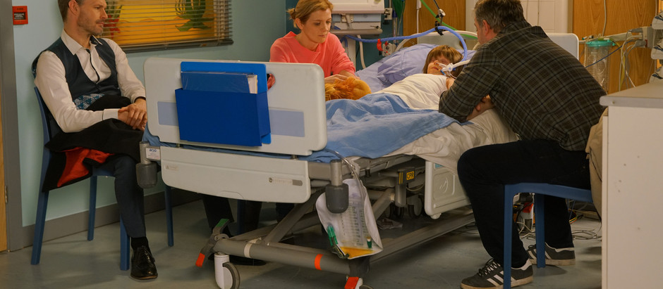 Leanne and Steve fear for Oliver's future in Corrie after devastating diagnosis