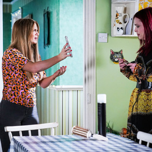 Tiffany's insecurities surface again in EastEnders as she prepares for graduation party