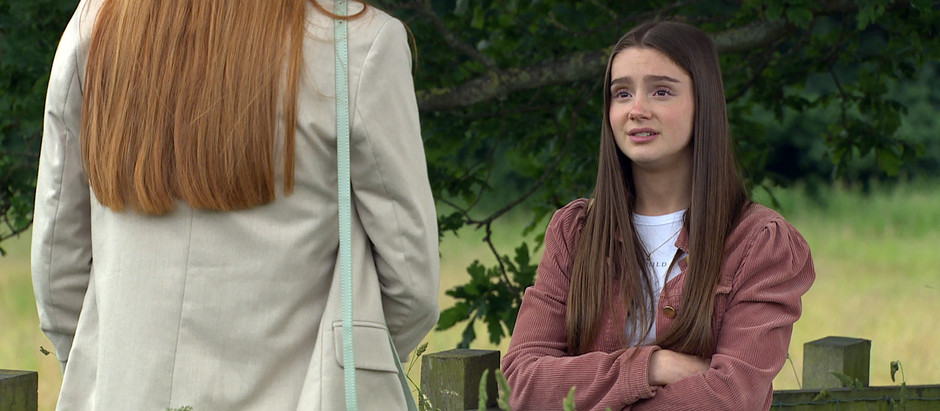 Sarah secretly meets with her donor's sister in Emmerdale