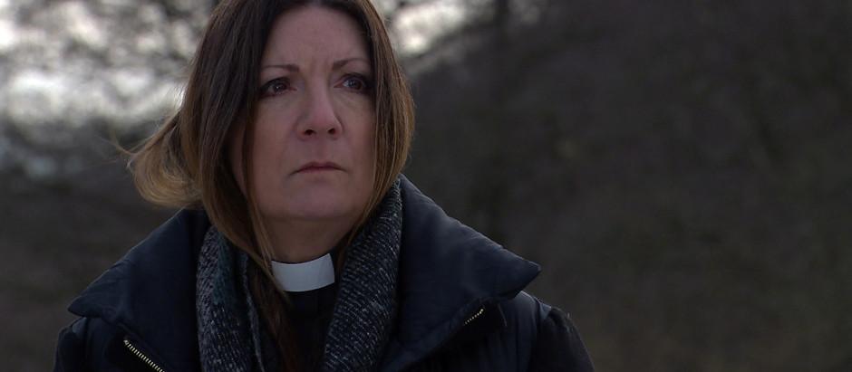 Harriet fearful as grave is exhumed in Emmerdale