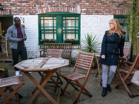 Sparks fly between Jenny and Ronnie in Corrie