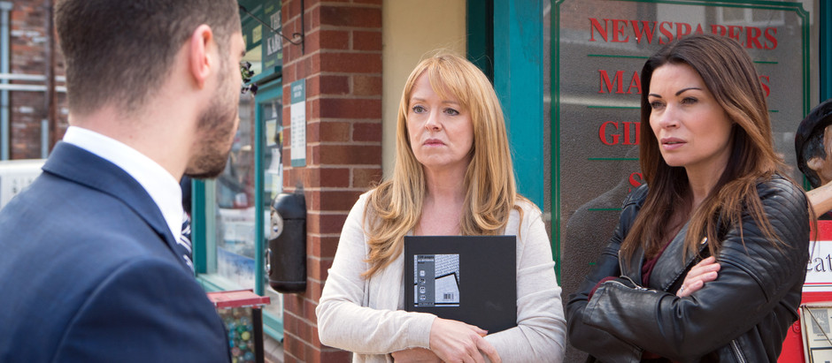 CORRIE SPOILERS Carla keeps Alya in the dark about Aidan's will