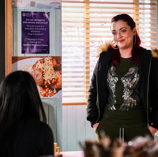 Whitney and Chelsea bond in EastEnders after pregnancy test