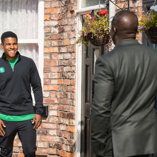James uses his platform for good in Corrie