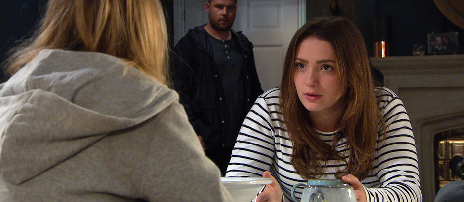 Noah's behaviour comes into question by Gabby and Liv in Emmerdale