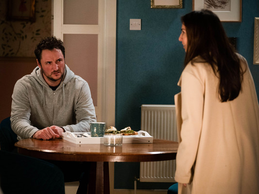 Martin punches Kush after Ruby reveals truth about Stacey's actions in EastEnders