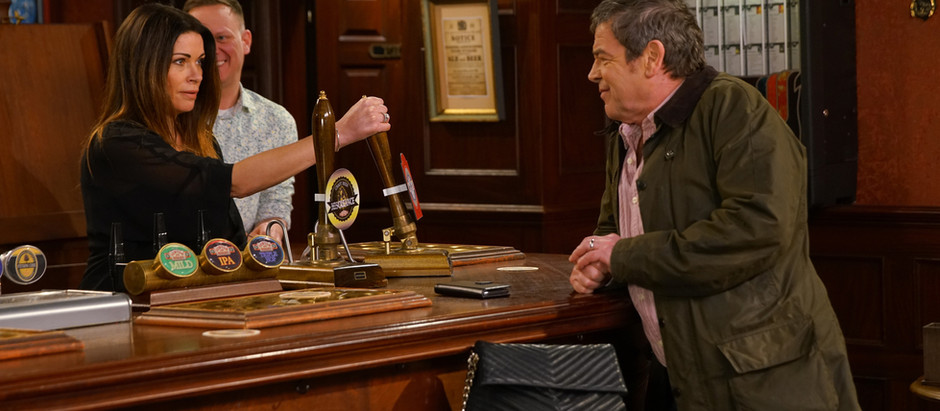 Carla and Peter take over the Rovers in Corrie as Jenny and Johnny leave for France