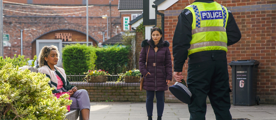 Emma lands herself in trouble with the police in Corrie