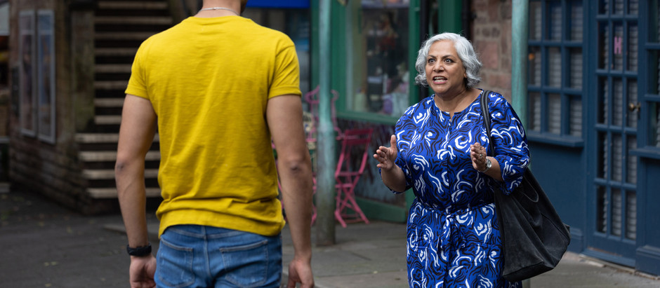 Misbah lies to Shaq about his dad being dead in Hollyoaks whilst telling Yazz the real truth