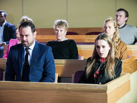 The Carters support Mick in EastEnders as he prepares to read his statement out in court