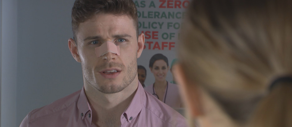 George makes others believe that John Paul is hurting him as he ends up in hospital in Hollyoaks