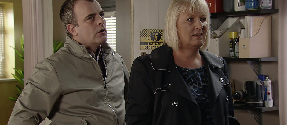 CORRIE SPOILERS Eileen receives silent calls as she returns to work