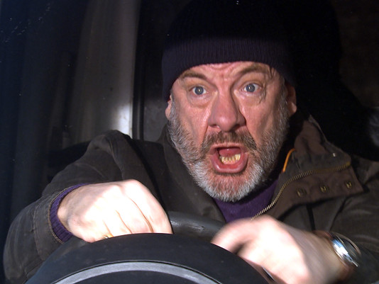 Jimmy in danger in Emmerdale as he loses control at the wheel