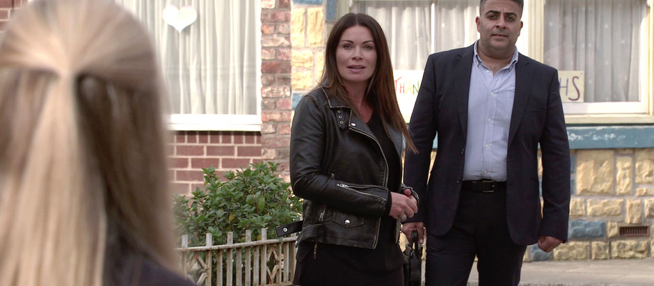 Carla warns Alina off Adam in Corrie as she returns to the cobbles