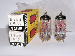 NOS NIB 1966's VALVO-PHILIPS Red E188CC / 7308 Big O Getter Matched Pair tubes