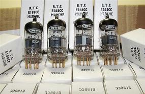 Mullard E188CC 7308 - M. Pairs MINT NOS NIB 1970s - Early 80s Gold Pin RTC French Label - Mitcham Plant Gt. Britain