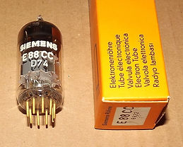 German made Siemens E88CC audio double triode tube with gold plated pins