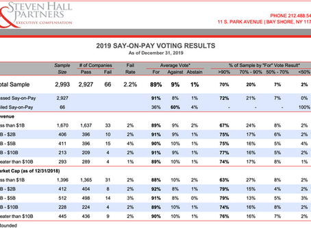 2019 Say on Pay Voting Results
