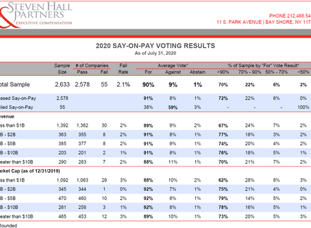 2020 Say on Pay Voting Results