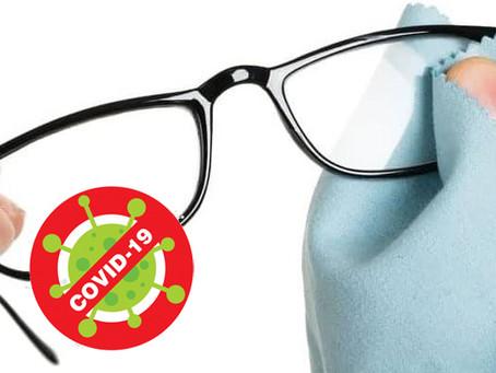 Limpieza de tus gafas. Covid-19