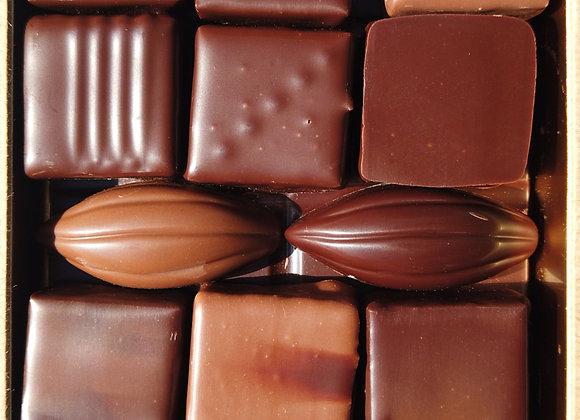 Boites de chocolats mélangés 185g
