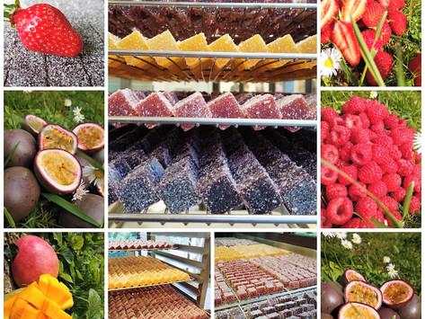 Création de pâtes de fruits à La Ferme au Chocolat