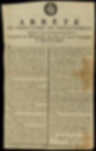 Arrete du directoire du departement des Basses-Alpes, concernant les municipalites qui n'ont pas encore encadastre les biens privilegies  du 21 juin 1791
