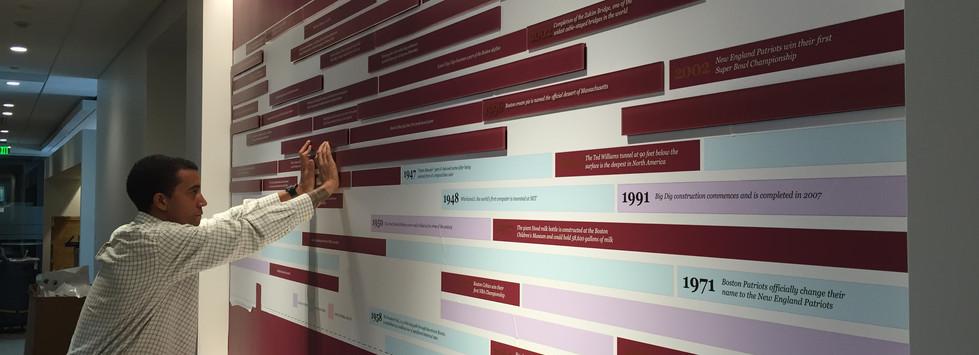 PricewaterhouseCoopers Timeline Installations.JPG