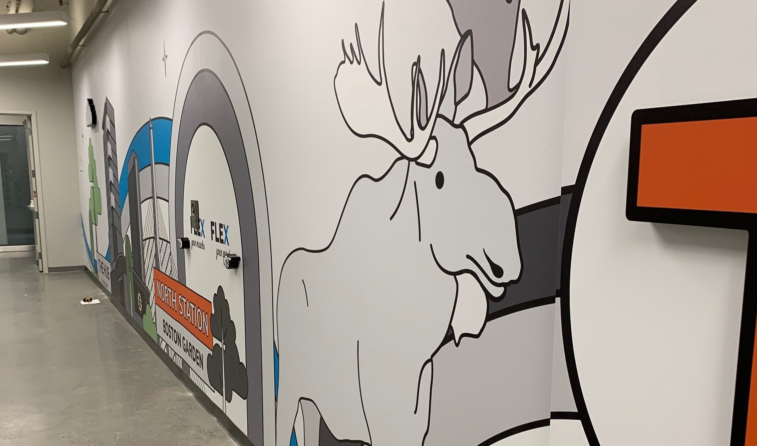 Rapid7 Elevator Lobby Mural