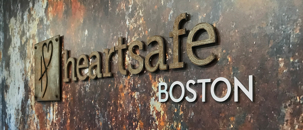 Heartsafe Distressed and rusted dimensional lettering