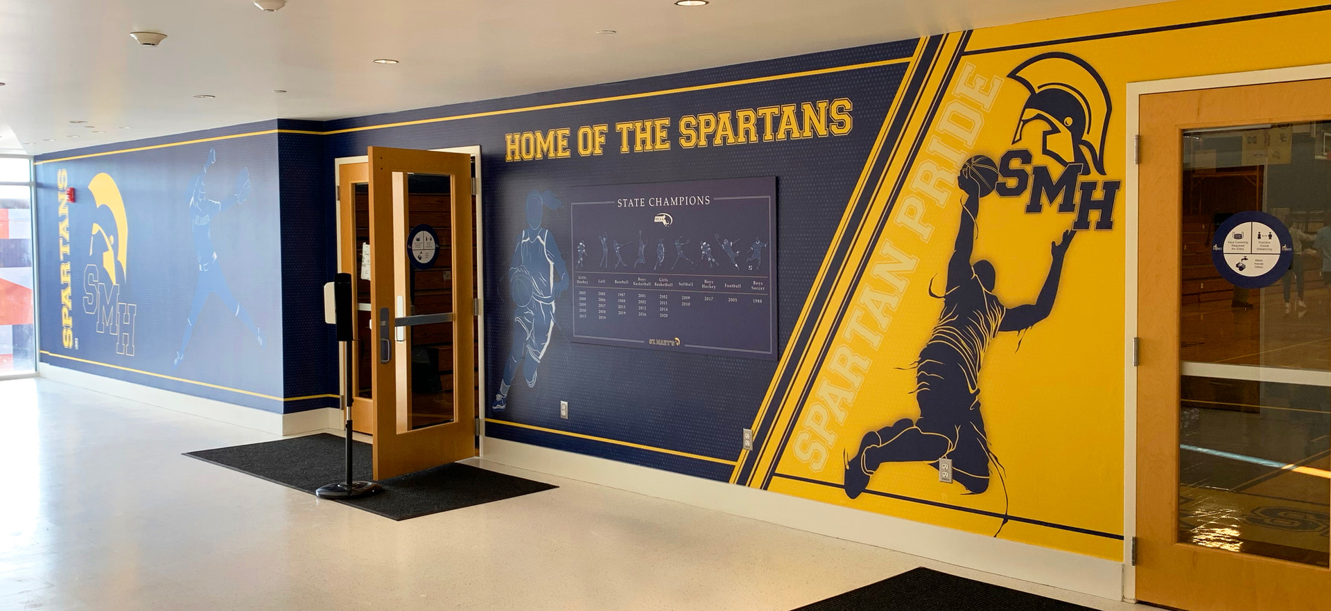 St. Mary's Gymnasium Entry Mural