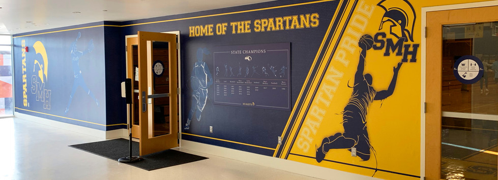 St. Mary's Gymnasium Entry Wall