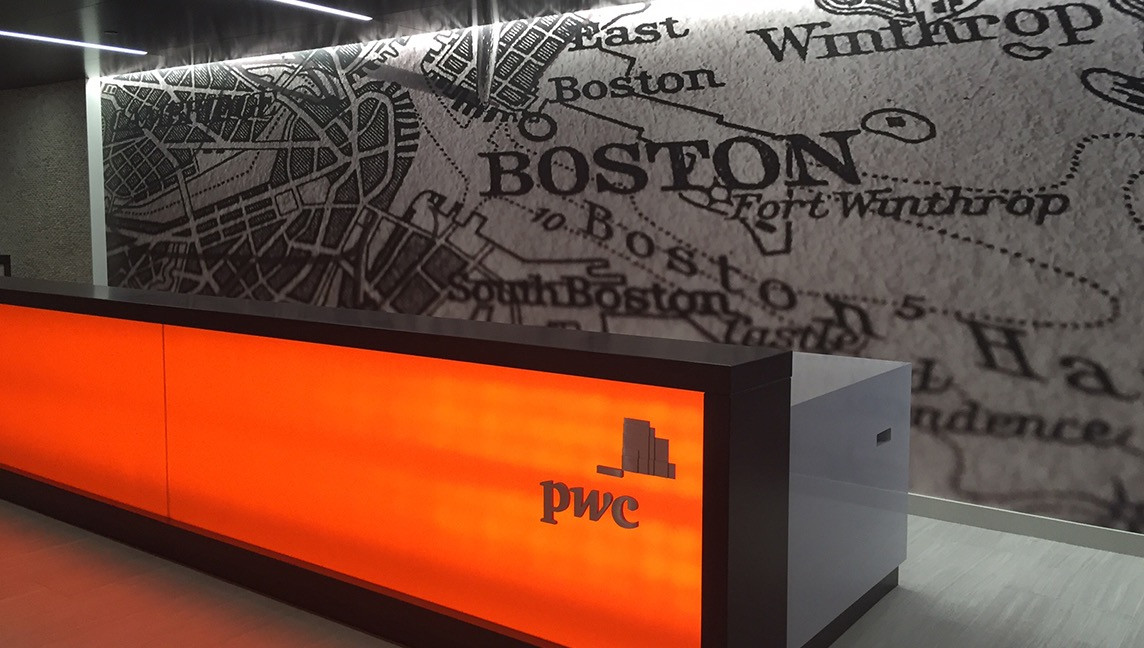 PricewaterhouseCoopers Reception Mural