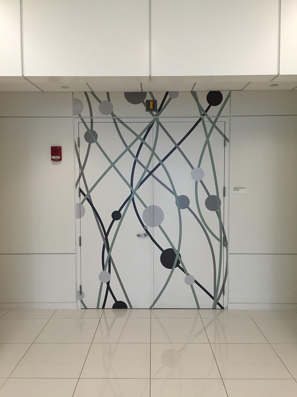 The environmental graphics at Atlas Venture, Cambridge, MA