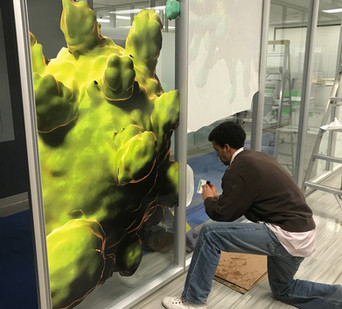 Merck 2-Sided Glass Graphic Install